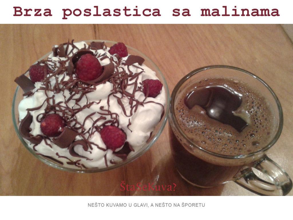 Brza poslastica sa malinama - savršen desert uz kafu