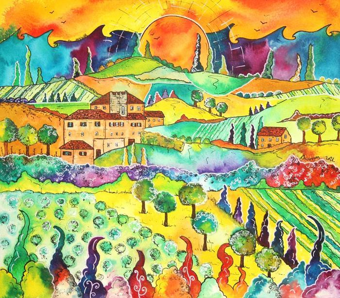 The Tuscan Sun Haul yr Eidal- Tuscany