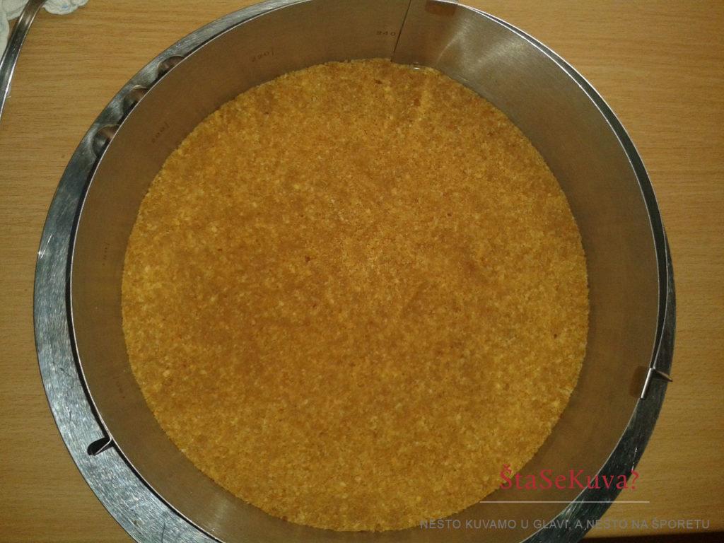 Najbolji recept za Cheesecake - podloga od keksa