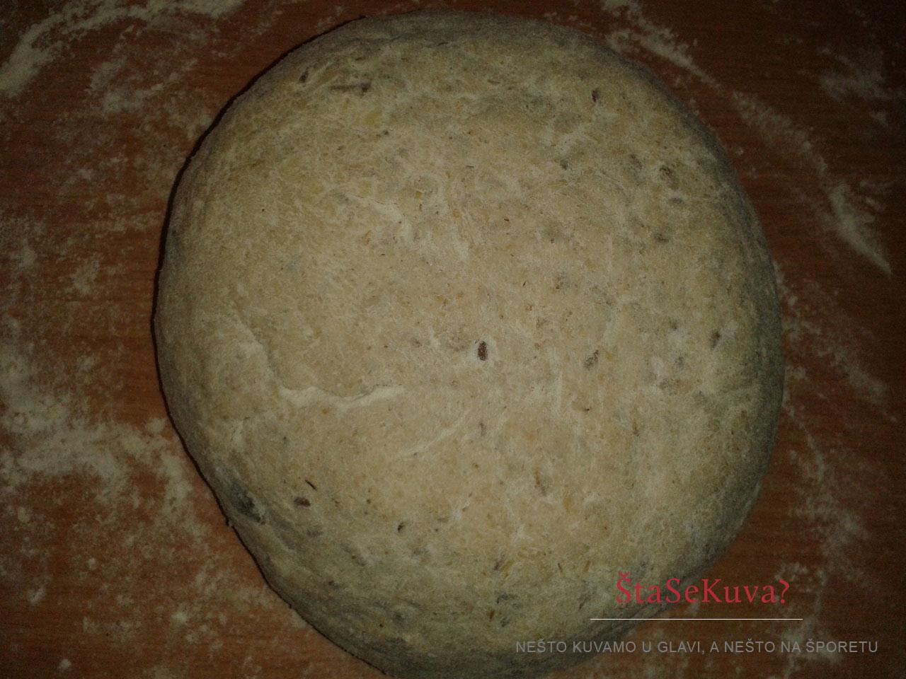 Oblikovanje cipovke, Cipovka od ječmenog brašna (bez kvasca) - pred pečenje