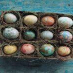 Farbanje jaja mramornom tehnikom Martha Stewart