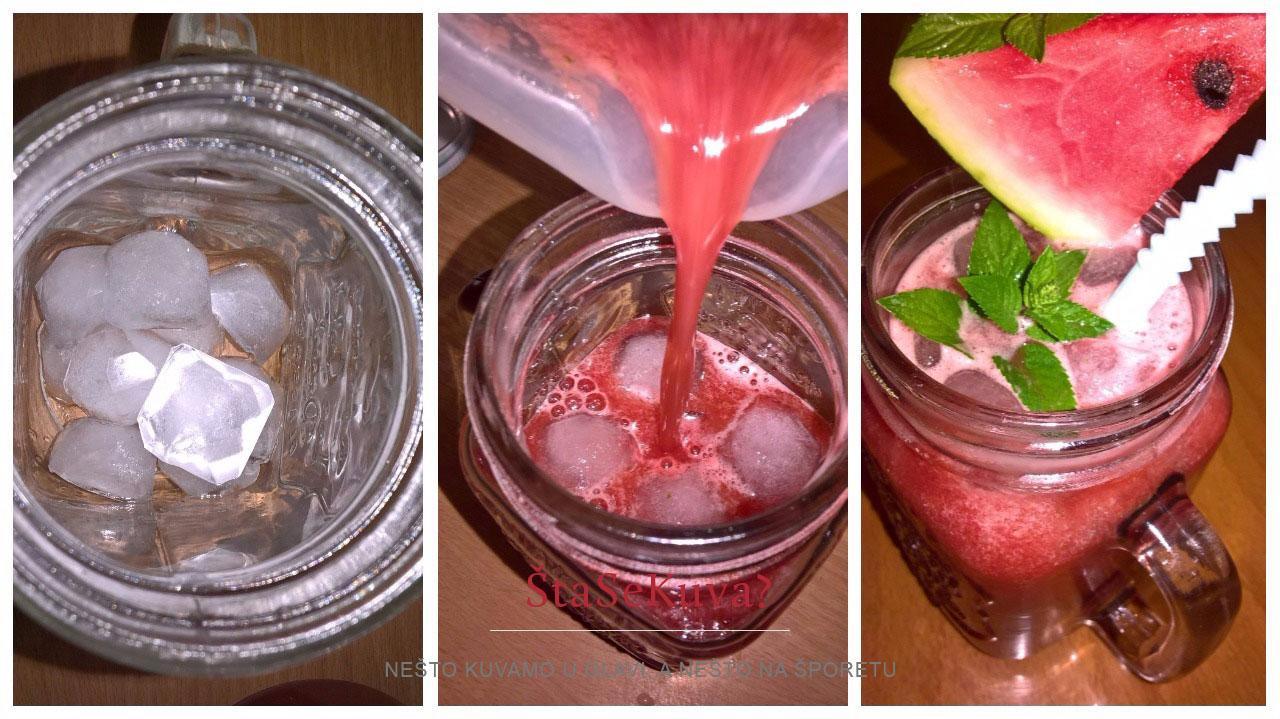 sok od lubenice i nane